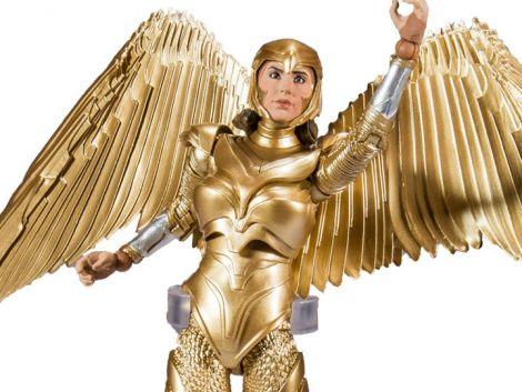 (RELEASED) WONDER WOMAN 1984 DC MULTIVERSE WONDER WOMAN (GOLD ARMOR) FIGURE