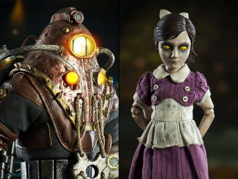 (RELEASED) BIOSHOCK 2 SUBJECT DELTA & LITTLE SISTER 1/6 SCALE COLLECTIBLE FIGURE SET
