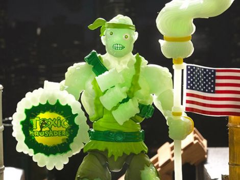 (RELEASED) TOXIC CRUSADERS GLOW IN THE DARK TOXIE DELUXE - EE EXCLUSIVE