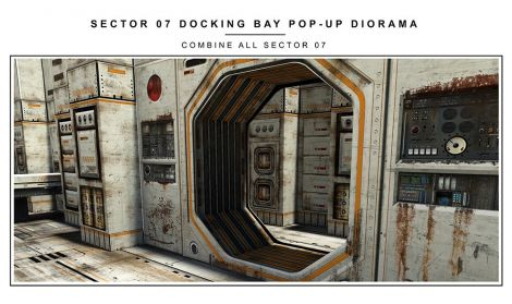 (PRE-ORDER) SECTOR 7 DOCKING BAY 1/12 SCALE POP-UP DIORAMA