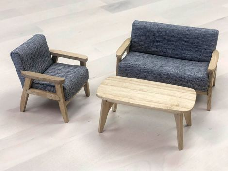 (RELEASED) EXTREME-SETS FURNITURE COLLECTION 1/12 SCALE MODERN COUCH SET