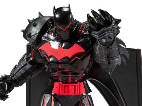 (RELEASED) BATMAN AND ROBIN DC MULTIVERSE BATMAN (HELLBAT SUIT) ACTION FIGURE