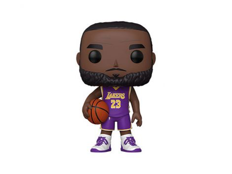 (COMING SOON) POP! NBA: LA LAKERS - 10in SUPER SIZED LEBRON JAMES (PURPLE JERSEY)