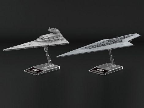 (RELEASED) STAR WARS STAR DESTROYER AND SUPER STAR DESTROYER MODEL KIT TWO-PACK