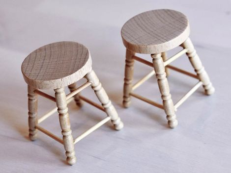 (RELEASED) EXTREME-SETS FURNITURE COLLECTION 1/12 SCALE BAR STOOL SET