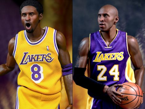 (RELEASED) NBA REAL MASTERPIECE KOBE BRYANT 1/6 SCALE FIGURES TWO PACK