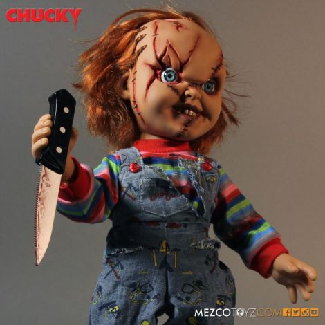 (RELEASED) CHILD'S PLAY MEGA SCALE TALKING CHUCKY (SCARRED)