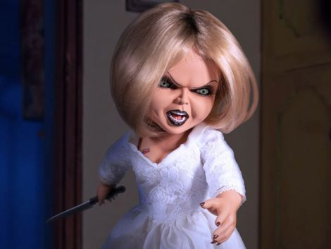 (RELEASED) SEED OF CHUCKY MEZCO DESIGNER SERIES MEGA SCALE TALKING TIFFANY
