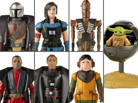 (PRE-ORDER) STAR WARS RETRO COLLECTION THE MANDALORIAN WAVE 1 SET OF 7 FIGURES