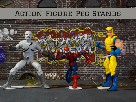 CUSTOM 1/12 SCALE ACTION FIGURE 3mm PEG STANDS (SET OF 3)