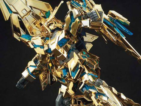 (RELEASED) GUNDAM HGUC 1/144 UNICORN GUNDAM 03 PHENEX DESTROY MODE (NARRATIVE VER.) GOLD COATING MOD