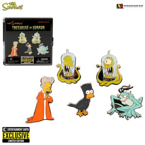 (RELEASED) SIMPSONS TREEHOUSE OF HORROR PIN SET - ENTERTAINMENT EARTH EXCLUSIVE