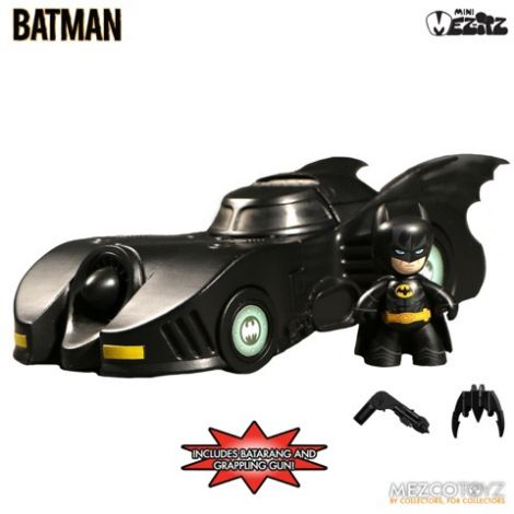 (RELEASED) MEZITZ 1989 BATMAN AND BATMOBILE SET