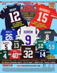 (RELEASED) 2020 TRISTAR GAME DAY GREATS AUTOGRAPHED JERSEY SERIES 3 FOOTBALL (FINAL SALE)