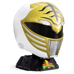 (RELEASED) MIGHTY MORPHIN POWER RANGERS LIGHTNING COLLECTION WHITE RANGER 1:1 SCALE WEARABLE HELMET