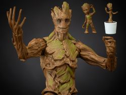 (RELEASED) GUARDIANS OF THE GALAXY MARVEL LEGENDS GROOT EVOLUTION