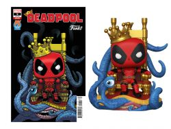 (PRE-ORDER) POP! DELUXE: MARVEL - KING DEADPOOL PX PREVIEWS LIMITED EDITION EXCLUSIVE (WITH COMIC)