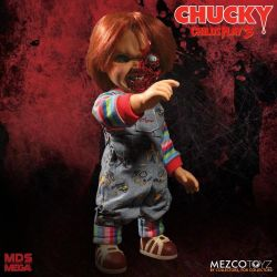 (RELEASED) CHILD'S PLAY 3 MEZCO DESIGNER SERIES TALKING PIZZA FACE CHUCKY