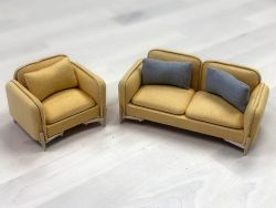 (RELEASED) EXTREME-SETS FURNITURE COLLECTION 1/12 SCALE VINTAGE COUCH SET